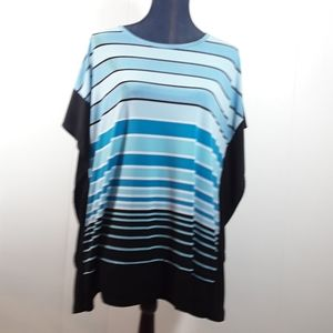 Michael Kors ruffle sleeve striped XL shirt